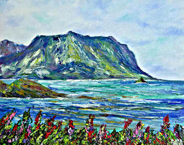 Hawaii Beach Art, Tropical Beach art prints. original painting and prints by Hawaii artist Donald K. Hall.