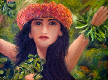 Hawaiiana Art, Hawaii Art  by Hawaii Artist Donald K. Hall.