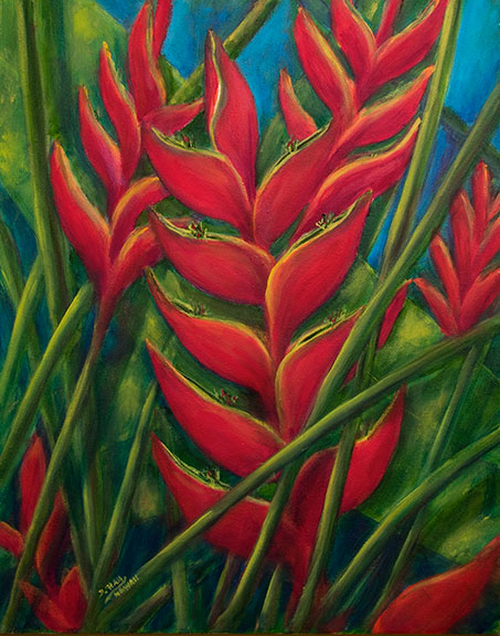 Hawaii tropical flowers Art Paintings & Prints for Sale by ...